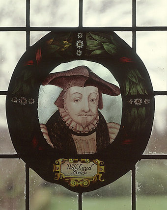 William Laud, Archbishop, one of four roundels of painted glass from the Oak Room