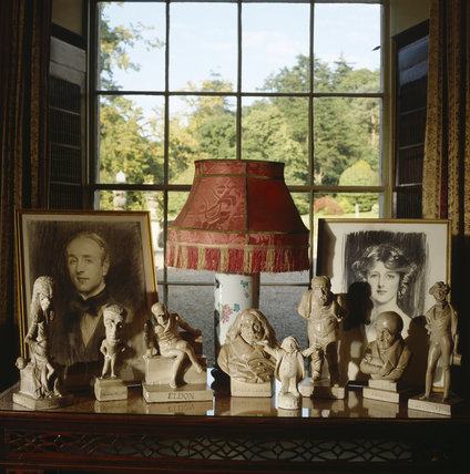 Collection of caricature busts dated 1833 in the Castlereagh Room