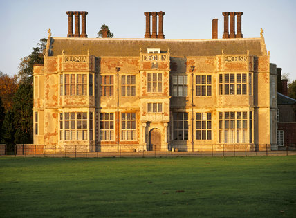 The south front of Felbrigg Hall, built between 1621-24