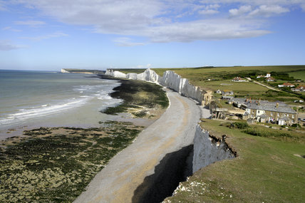 A long view along the coast at Birling Gap, part of the Seven Sisters cliffs range, East Sussex