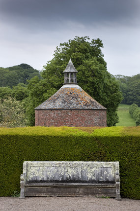 The eighteenth-century dovecote and the North Terrace at Antony, Cornwall