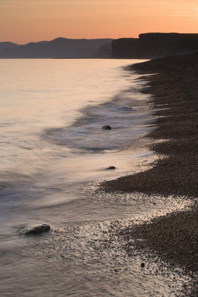 Sunset at Burton Beach, Burton Bradstock, near Bridport, Dorset
