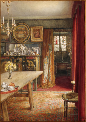 `THE DINING ROOM AT THE GRANGE' by T.M Rooke