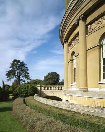 Part of the central rotunda on the South Front of Ickworth House in Suffolk