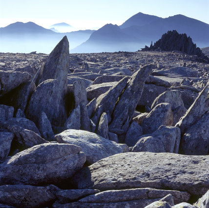 Snowdonia/Carneddau in late January/early February 2006 showing the lack of snow compared to the same area ten years ago
