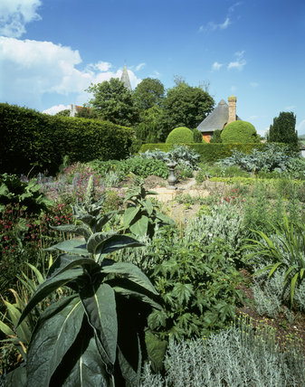 Alfriston Clergy House, the vegetable garden and south end of house