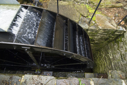 The waterwheel at Llanerchaeron, Ceredigion, Wales, which served the estate