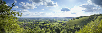 Panoramic view from Colley Hill, Reigate, Surrey