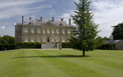 The eighteenth century neo-classical mansion at Buscot Park, Oxfordshire