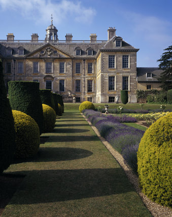 View of the north front of Belton seen from the Dutch Garden