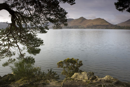 Looking across Derwentwater from Friar's Crag, Lake District, Cumbria