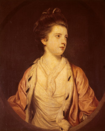PORTRAIT OF ELIZABETH FORTESCUE, COUNTESS OF ANCRUM (1745-80), painted by Sir Joshua Reynolds in 1769