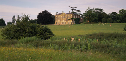 View of the west front of Claydon House taken from the meadow