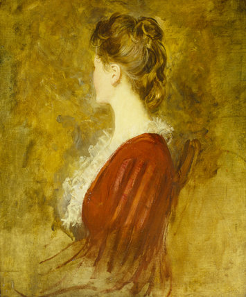 AN UNKNOWN LADY in the manner of John Singer Sargent (1856-1925), at Belton