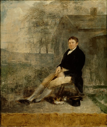 THOMAS PRITCHARD, GARDENER, 1830, British School, in the Servants Hall at Erddig