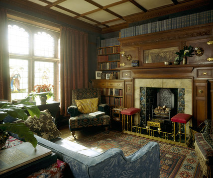 The Library At Wightwick Manor Looking From The Hall Door