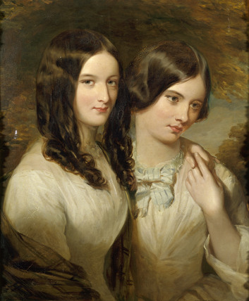 RHODA MAY AND SOPHIA ELIZA BAIRD, oil on canvas, double portrait by William Gush