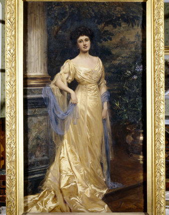 THE HON.VICTORIA FLORENCE DE BURGH GIBBS, known as Via,(1880-1920) by Albert Henry Collins, 1908