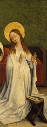 THE VIRGIN ANNUNCIATE (fragment) attributed to Van der Weyden, Rogier (1399-1464)