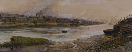 ELSWICK WORKS by Thomas M Hemy (1852-1937)