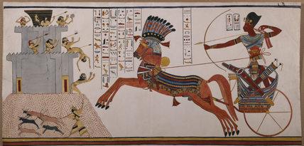 Abu Simbel Great Temple Great Hall King Rameses Ii In