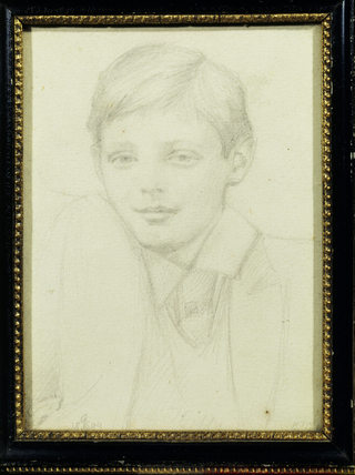 CHURCHILL AS A BOY (1890) by John Tenniel (1820-1914)
