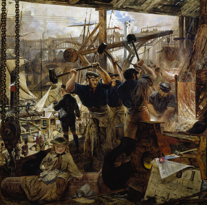IRON AND COAL ON TYNESIDE IN THE 19TH CENTURY by William Bell Scott (1811-1890)