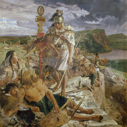 THE ROMANS CAUSE A WALL TO BE BUILT FOR THE PROTECTION OF THE SOUTH by William Bell Scott