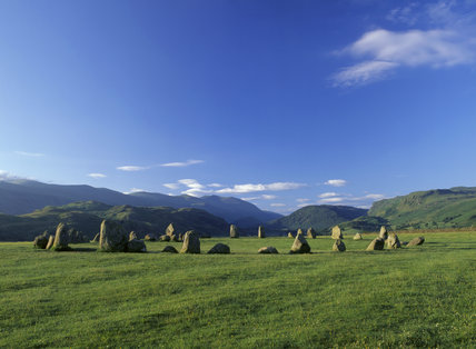 view of Castlerigg stone circle near Keswick