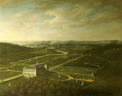 BELTON HOUSE AND GARDENS, a bird's eye view by Thomas Smith, known as