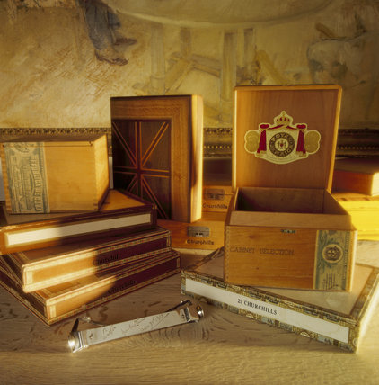 Still life of Cigar Boxes from the Dining Room at Chartwell