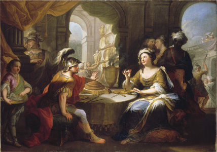 MARK ANTHONY AND CLEOPATRA, 18th century Bolognese School, (HIN/P/32), post-conservation at Hinton Ampner