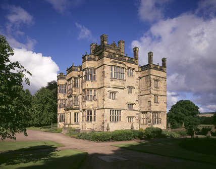 A view of the East Front of Gawthorpe Hall at Lancashire