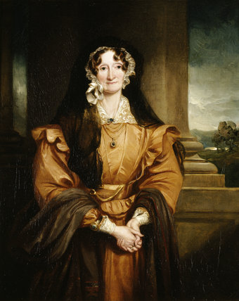ELIZABETH UPTON, MARCHIONESS OF BRISTOL by Sir Francis Grant, (1803-78), post-conservation at Ickworth