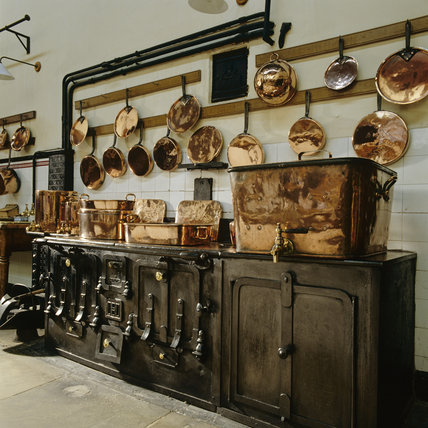 The kitchen at Lanhydrock
