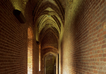 The vaulted processional passageway leading to the audience chamber on the second floor