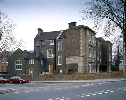 Sutton House from the North East, Constructed in 1525 it was remodelled in 1700 and has additions dating from 1904