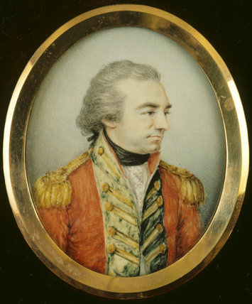 MINIATURE PORTRAIT OF EDWARD CLIVE, 2nd LORD CLIVE, 1st EARL OF POWIS (3rd CREATION) by Gervase Spencer, in the Gateway Room at Powis Castle