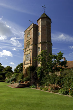 The Elizabethan prospect tower at Sissinghurst Castle Garden, the sanctum of Vita Sackville-West where she wrote novels and articles on gardening