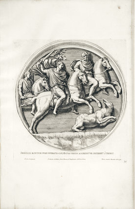 Page from Veteres Arcus Augustorum Triumphis Insignes by J.P Bellorii (Rome 1690) G.W.G.j.29 from the library collection at Calke Abbey, Derbyshire