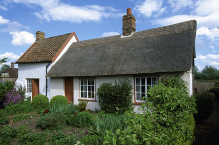 A view of Wicken Fen cottage and garden in the early summer