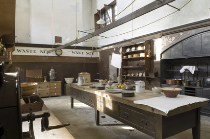 The Old Kitchen At Belton House Lincolnshire Showing An