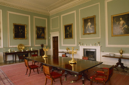 The Dining Room At Castle Coole Designed And Furnished By