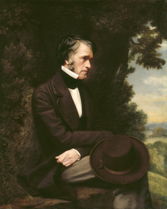 PORTRAIT OF THOMAS CARLYLE, by Robert Tait, English School 19th century, post-conservation at Carlyle's House (CAR/P/46)