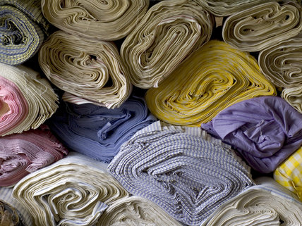 Rolls of cloth made at Quarry Bank Mill, Styal