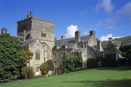 Exterior of Buckland Abbey, which incorporates the remains of a 13th century abbey church, at Yelverton, Devon