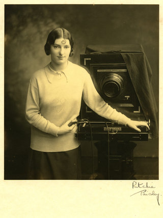 Margaret Hardman with studio camera