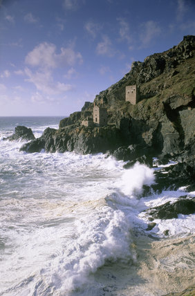The Crowns engine houses, part of Botallack Mine near St Just in Cornwall