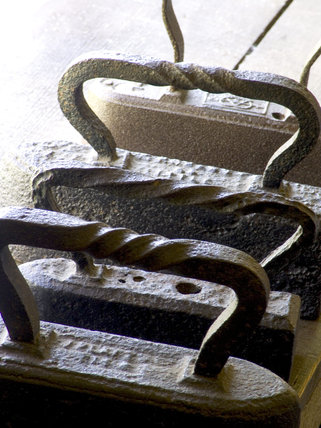 Irons at Finch Foundry where hand tools were made during the C19th and C20th