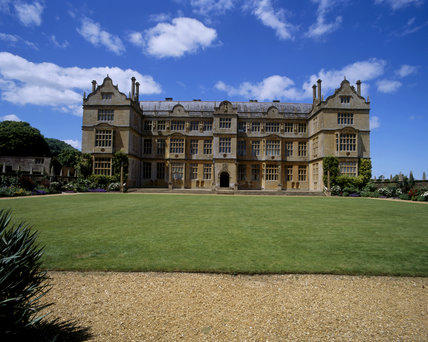 East front of the Elizabethan Montacute House, Somerset built in the last decade of the sixteenth century for Edward Phelips
